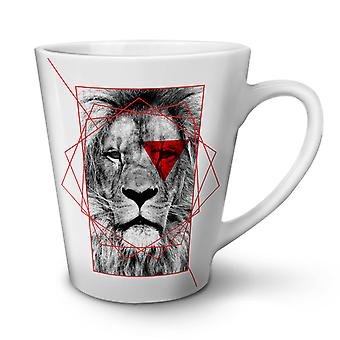 Lion Cool Design NEW White Tea Coffee Ceramic Latte Mug 12 oz | Wellcoda