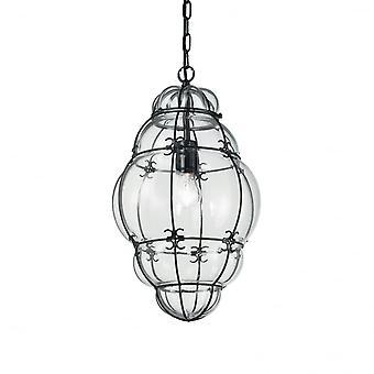 Ideal Lux Anfora italienska traditionella tak lykta hängande, klart glas