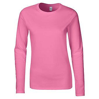 Gildan Softstyle feminina Ringspun Long Sleeve t-shirt algodão