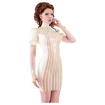 Vestover bundet Maitresse-no-titer Femme Latex gummi Dress.