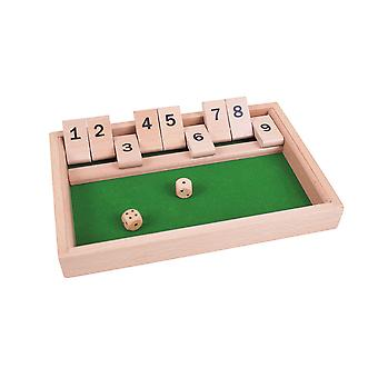 Bigjigs Toys Wooden Traditional Shut The Box Game Children's Kid's