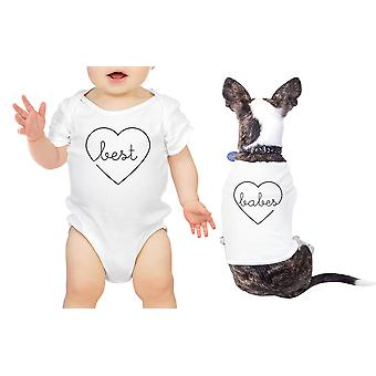 Best Babes Pet Baby Matching T-Shirts White Bodysuit Baby Shower Gift