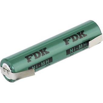 نونستاندارد هراوو-لفو FDK البطارية (القابلة لإعادة الشحن) أو AAA اللحيم التبويب NiMH 1.2 V 730 ماه