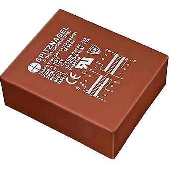 PCB mount transformer 2 x 115 V 2 x 12 V AC 25 VA 1042 mA SPF 2531212 Spitznagel