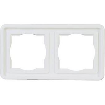 Kopp 302402074 2x rango de productos de interruptor de habitación húmeda Frame Arktis White