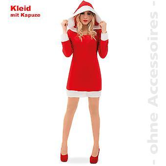 Julemand kostume damer Hoody kjole xmas Nikoline damer kostume