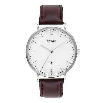 watch reloj de pulsera cuero Oliver s. hombres SO-3617-LC
