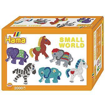 Hama kralen kleine wereld Pony en olifant