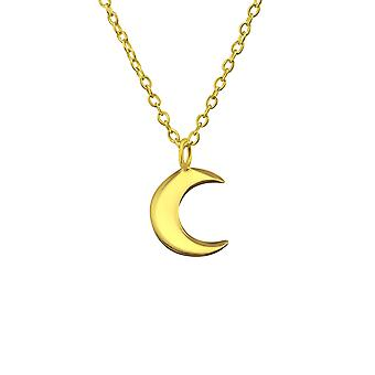 Crescent Moon - 925 Sterling Silver Plain Necklaces - W19583x