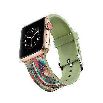 Siliconen horlogebandje voor Apple Watch 4 44mm, 3/2/1 42mm-kleurrijke geometrische