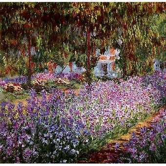 Iris Bed in Monet-S Garden, Claude Monet, 50x50cm