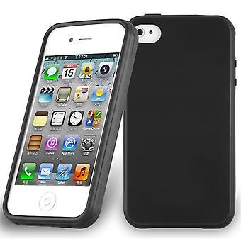 Cadorabo حالة لأبل اي فون 4 / iPhone 4S تغطية حالة القضية - حالة الهاتف المصنوعة من السيليكون TPU مرنة - حالة سيليكون واقية فائقة سليم لينة الغطاء الخلفي الوفير