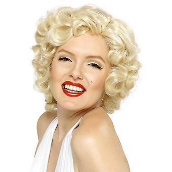Short Blonde Wavy Wig, Marilyn Monroe Wig, Movie Film Star, Fancy Dress
