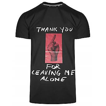 Antony Morato Sport Crew Neck Black 'Thank You' T-Shirt