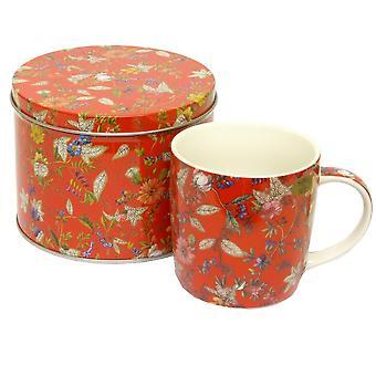 JOE DAVIES Mug And Tin Set LP93251 Red