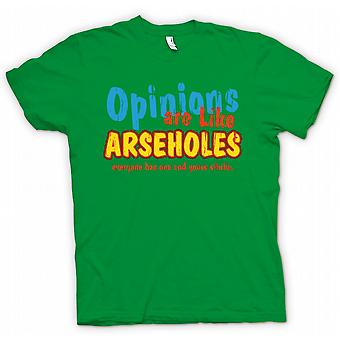 Mens T-shirt - Opinions Are Like Arseholes, Everyone Has One And Yours Stinks