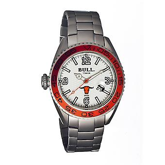 Bull Titanium Hereford Men's Swiss Bracelet Watch - White