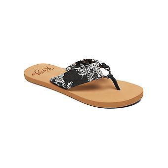 Roxy naisten Paia III rento Thong Beach Sandaalit-musta/valkoinen