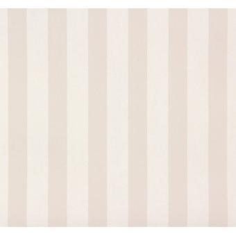 Streifen Kinder Teens Zimmer Tapete Streifen Beige Creme Kindergarten Funktion Wand Rasch