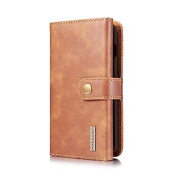 Dg. MING Samsung Galaxy S10 Split leather wallet Case-brown