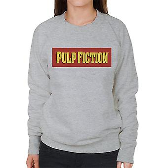 Pulp Fiction Classic Film Logo Red And Yellow Women's Sweatshirt