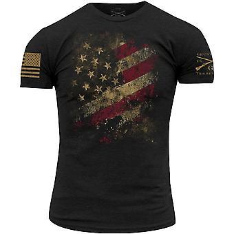 Grunt style usé drapeau 2,0 T-shirt-noir