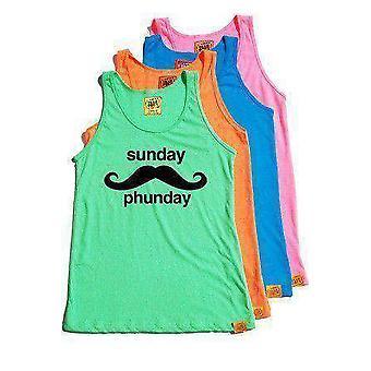 Team phun sunday phunday unisex tank top orange