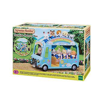 Famílias Sylvanian Sunshine Toy Bus berçário