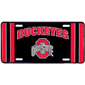 Ohio State Buckeyes NCAA Team Stripe placa de licença