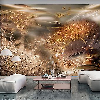 Fotobehang - Dandelions' World (Gold)