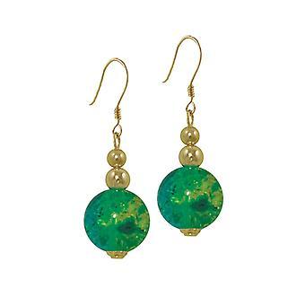 Ewige Sammlung Dominica Smaragd und gelb Glas Bead Goldton Tropfen Ohrhänger