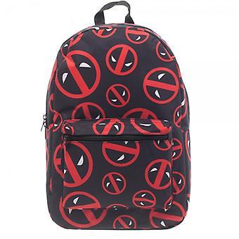 Backpack - Marvel - Deadpool Logo Print New Licensed bq24j7mvu