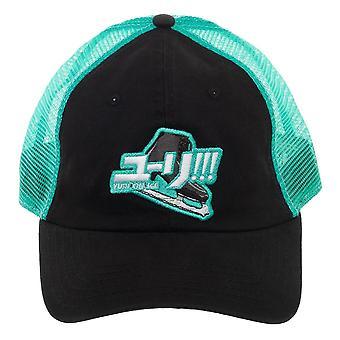 Baseball Cap - Yuri On Ice - Mesh Black Hat  New ba6tj9cru