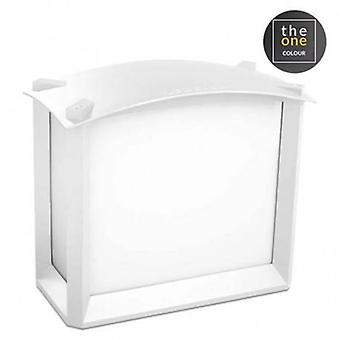 2 Light Outdoor Wall Light White