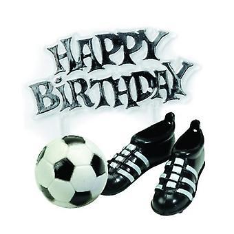 Kreativa Party Cake Topper Kit - fotbollsskor & Motto