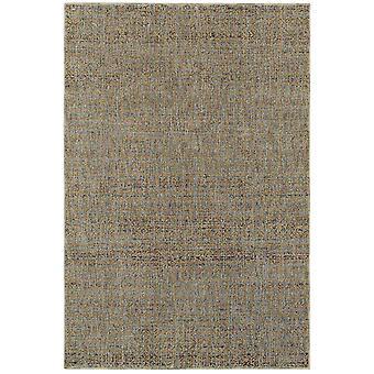Atlas 8048b blue/ gold indoor area rug rectangle 8'6