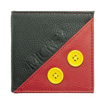 Disney Mickey Mouse Premium peňaženka červenej a čiernej, vyrobené z polyuretánu.
