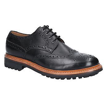Cotswold mens Quenington commando leer geregen Oxford schoenen