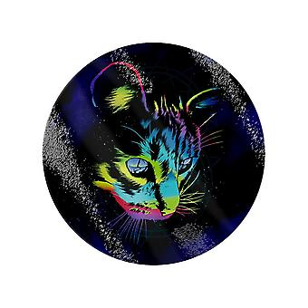 Unorthodox Collective Rainbow Cat Circular Glass Chopping Board