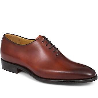 Chaucer hand finished wholecut leather oxford shoe- santo