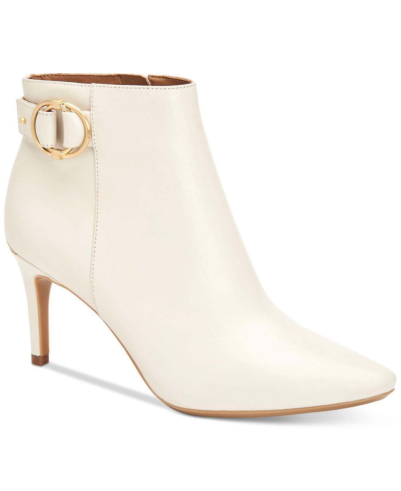 Calvin Klein damskie Jailene Leather wskazał toe kostki Moda Buty Xuej6