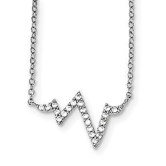 925 στερλίνα ασημένια CZ κυβικά Zirconia προσομοιωμένο Diamond Fancy με 2inch ext. κολιέ 16 ιντσών κοσμήματα δώρα για τις γυναίκες