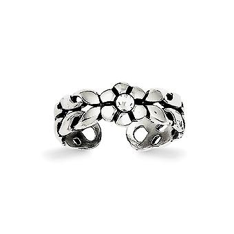 925 sterling sølv solid polert antiqued krystall tå ring smykker gaver til kvinner