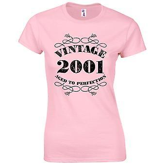 18. Geburtstag Geschenke für Frauen Ihre Vintage 2001 T Shirt