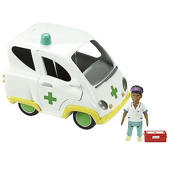 Bombeiro Sam-ambulância e figura Push along veículo 03601