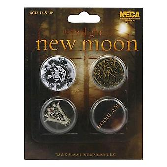 Il Twilight Saga New Moon Pin Set di 4 Crests