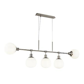 Lampada a sospensione Maytoni Lighting Erich Nickel 5 X 40W