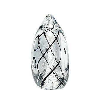 Bergdalshyttan-Art Glass-Rain-black/white Design Roger Johansson
