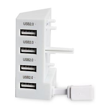 REYTID Remplacement USB 4-Port Hub Compatible avec Xbox One S - White - Controller Charging High Speed USB Hub Expander