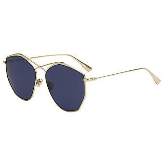 Dior Stellaire 4 J5G/KU Gold/Blue Sunglasses